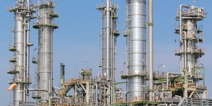 Chemical plant fractionation coloumn